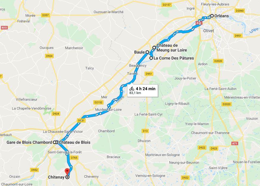 lilytoutsourire - la loire en vélo - itinéraire jour 1