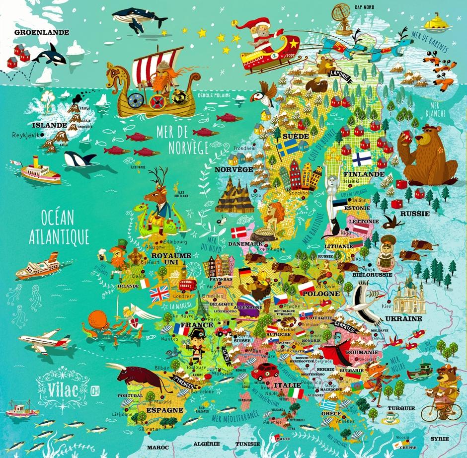 carte europe voyage en van - lilytoutsourire
