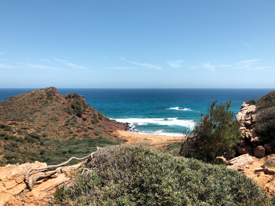 les plages du nord de minorque CALA PILAR