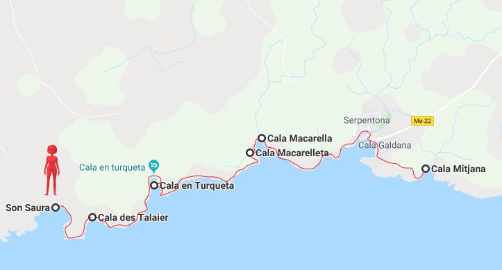 Minorque - les plages du sud itinéraire 1