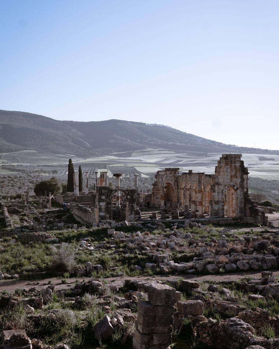 Le Maroc en van - Volubilis