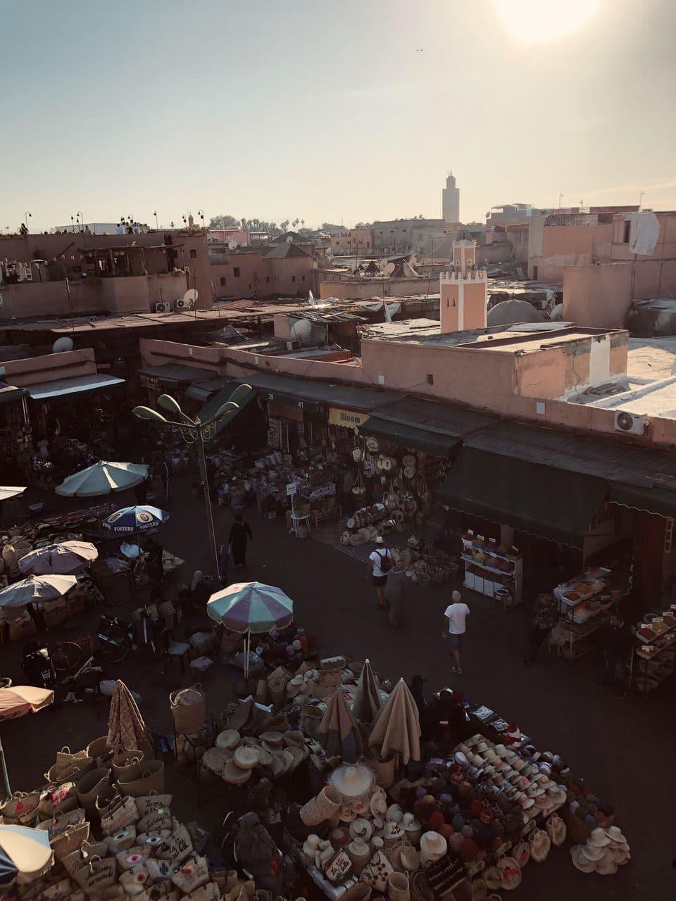terrasses de la place jemaa el fna