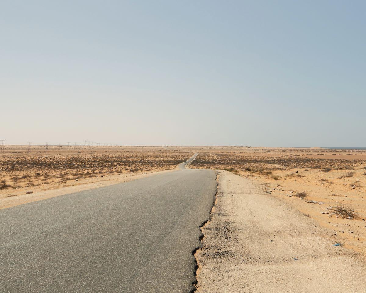 On traverse en van la Mauritanie - paysages Mauritaniens