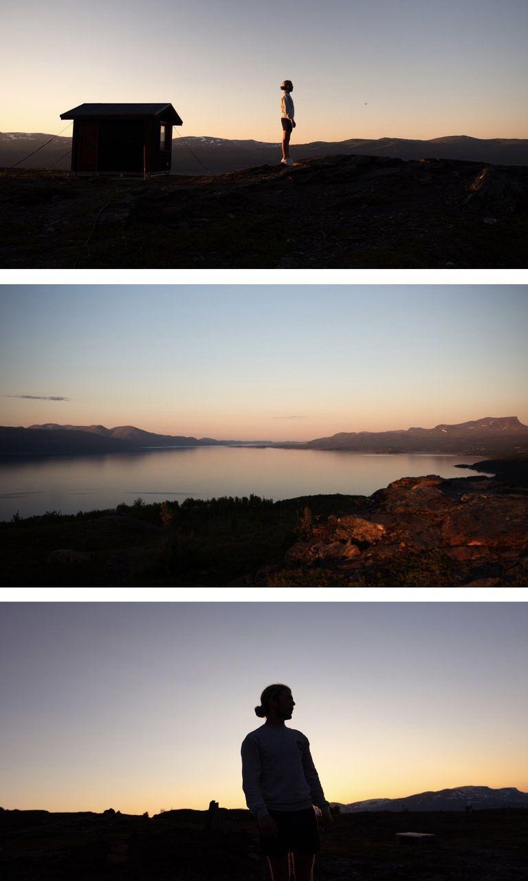 Björkliden - soleil de minuit en Laponie Suèdoise