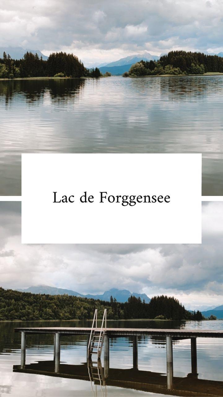 le lac de Forggensee - spot favori à faire en van