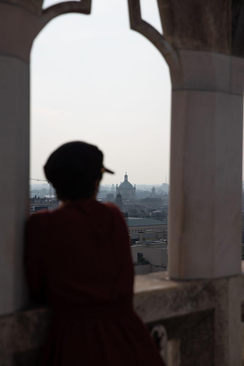 Toit terrasse du dome de Milan - rooftop - lilytoutsourire